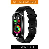 Protech Electronics fitwatch - smartwatch compatibile iphone android samsung huawei, activity tracker compatibile android iphone samsung huawei, contapassi fitness con notifiche, cardiofrequenzimetro e contacalorie