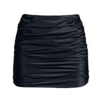 Michelle Mason minigonna con ruches - nero