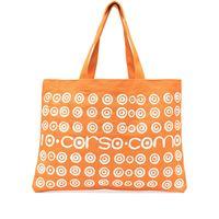 10 CORSO COMO borsa tote con stampa - arancione