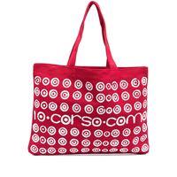 10 CORSO COMO borsa tote con stampa - rosso