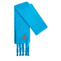 LOEWE sciarpa in maglia di misto mohair