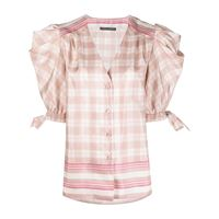 Alberta Ferretti blusa a quadri - rosa