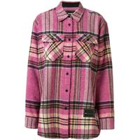 We11done giacca-camicia oversize - rosa