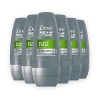 Dove men+care dmc, deodorante uomo roll-on extra fresh, 6 pezzi da 50 ml