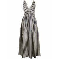 BRUNELLO CUCINELLI vestito donna mh143a4585c010 cotone blu