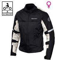 BEFAST giacca moto donna touring befast alltime lady ce certificata 3 strati nero grigio