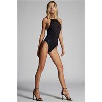 Dsquared2 donna costume intero nero taglia 38 80% poliammide 20% elastan