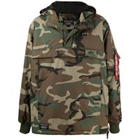 Alpha Industries giacca a vento con stampa camouflage - verde