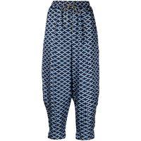 Odeeh pantaloni con stampa - blu