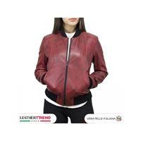 Leather Trend Italy miami - bomber donna in vera pelle di agnello invecchiata