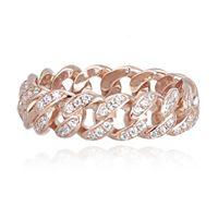 Mabina anello argento - groumette rosato