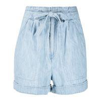 Isabel Marant Étoile shorts denim con cintura marius - blu