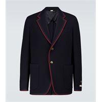 Gucci blazer in jersey di lana e cotone