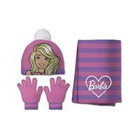 Barbie set 3 pezzi cappello + guanti + sciarpa Barbie