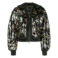 Mr & Mrs Italy bomber con paillettes - verde