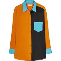 Equipment camicia elsee color-block - marrone