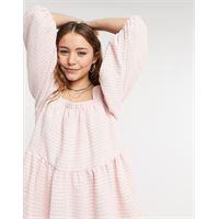 Sister jane - vestito grembiule corto rosa pallido