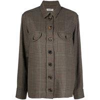 Blazé Milano giacca-camicia a quadri - marrone