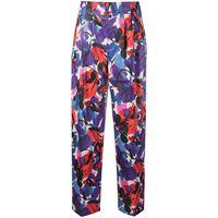 ROTATE pantaloni janis a vita alta - viola