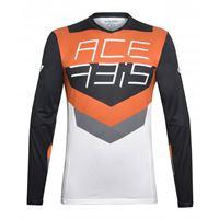 ACERBIS maglia mx track acerbis nero/arancio
