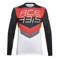 ACERBIS maglia mx track acerbis nero/rosso