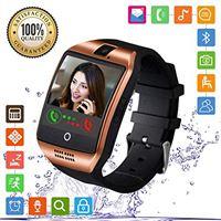 FENHOO smartwatch, sn06 smart watch phone con sim card slot camera touch screen orologio intelligente cellulare per android samsung huawei xiaomi ios i. Phone 11 x 8 7 6 6s 5 uomo donna bambini (oro)
