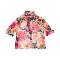 Dolce & Gabbana Kids camicia a stampa floreale in seta