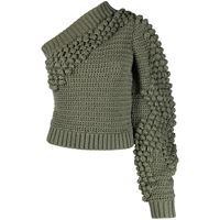 Helmut Lang top monospalla - verde