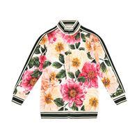 Dolce & Gabbana Kids felpa a stampa floreale con zip