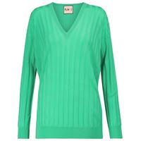 Plan C pullover a coste in lana