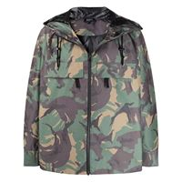 A.P.C. giacca con stampa camouflage - verde