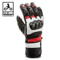 BEFAST guanti moto pelle racing befast protector ce certificati nero rosso