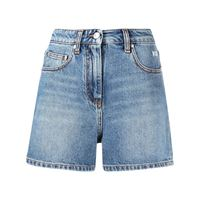 MSGM shorts denim a vita alta - blu
