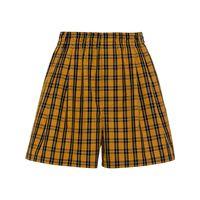 Miu Miu shorts a quadri - giallo