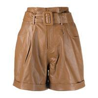 Federica Tosi shorts a vita alta - marrone