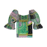 Versace Kids top a stampa barocco patchwork