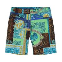 Versace Kids shorts a stampa barocco patchwork in cotone