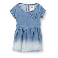 Levi's Kids short sleeve denim dress c693 vestito bimba 0-24 milestone 12 mesi