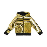 Versace Kids felpa a stampa barocco mosaic in cotone