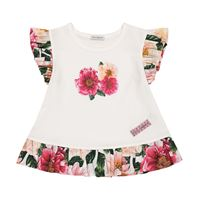 Dolce & Gabbana Kids t-shirt a stampa floreale in cotone