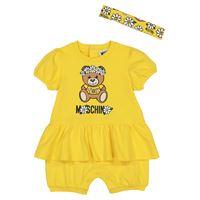 Moschino Kids baby - pagliaccetto in cotone con fascia per capelli