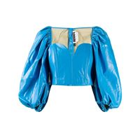 ROTATE top con maniche a palloncino - blu