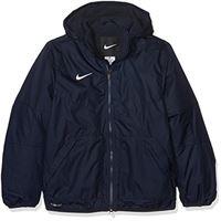 Nike team fall jacket youth, giacca sportiva bambino, obsidian/dark obsidian/(white), m