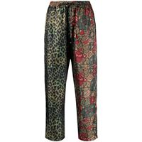 Pierre-Louis Mascia pantaloni crop aloe con pannelli a contrasto - verde
