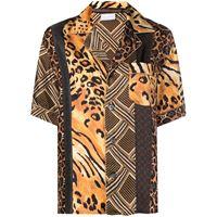 Pierre-Louis Mascia camicia con stampa - marrone