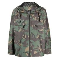 A.P.C. giacca samy con stampa camouflage - verde
