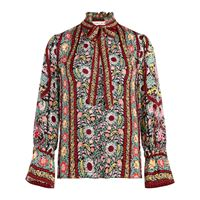 Alice+Olivia blusa reilly flower pot con stampa - rosso