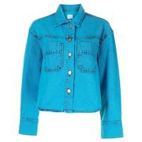 SJYP giacca denim crop - blu