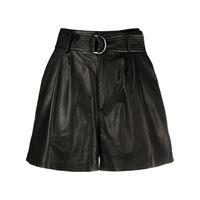 P.A.R.O.S.H. shorts con vita alta - nero