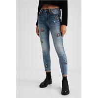 Desigual jeans skinny lunghi fino alla caviglia - blue - 26